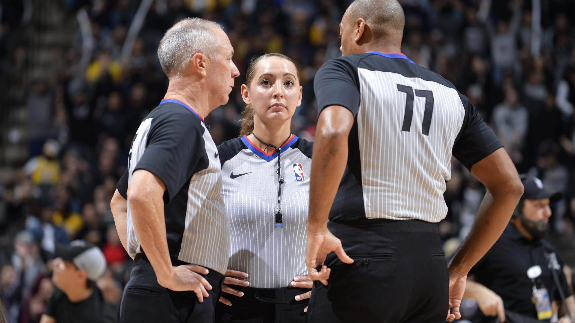 761cd4da311 Veteran officials have helped Moyer-Gleich (pictured) and Sago adjust to NBA  life.