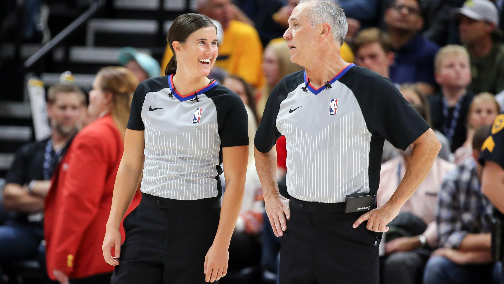 9683e115a87 Natalie Sago made her NBA officiating debut on Oct. 22 for Grizzlies-Jazz.