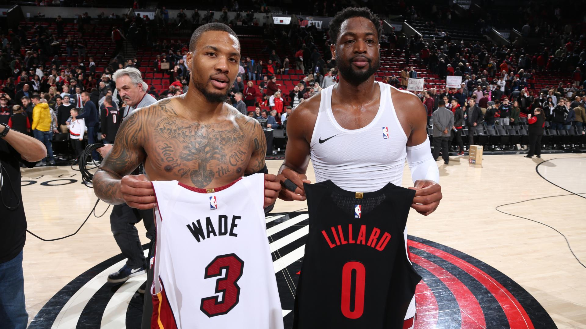 the latest 804bf 738be Wade's jersey swaps in his farewell season | NBA.com