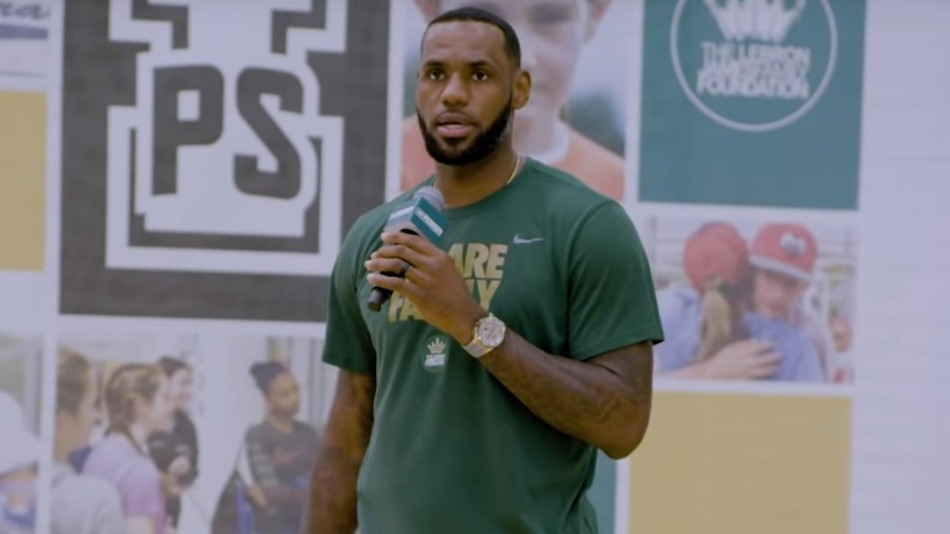 Image result for Lebron James gives $1 million To His I Promise School For New Gym