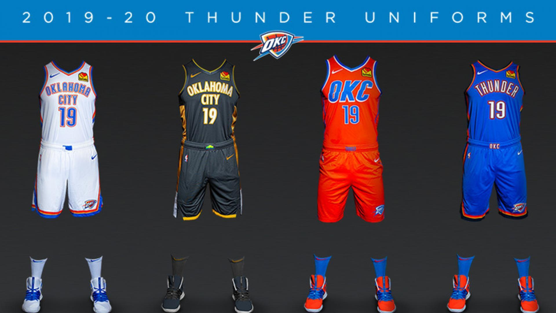 half off 406a0 63a01 Thunder unveil new uniform in partnership with Oklahoma City ...