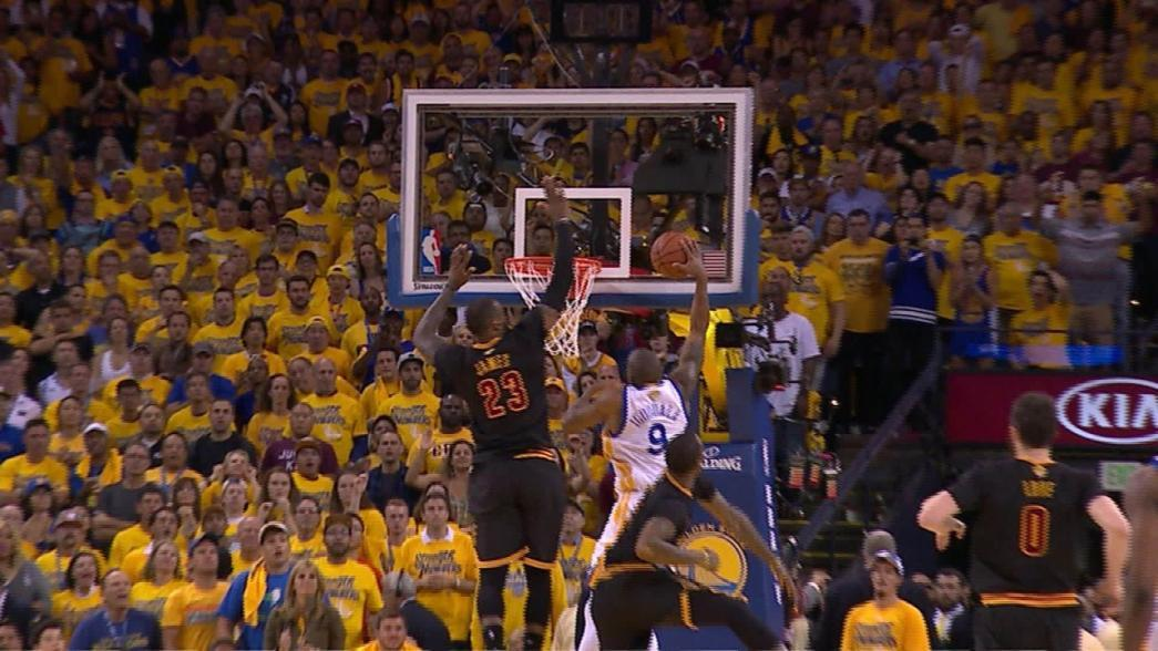 LeBron James' Historic Block on Andre Iguodala From All ...