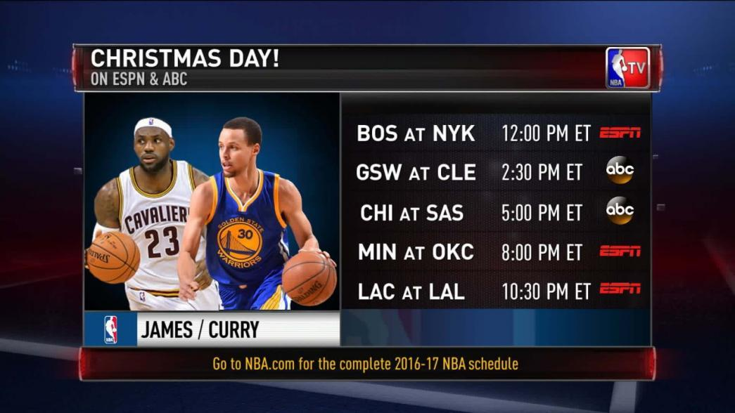 NBA Schedule Release Special: Christmas Day Games   NBA.com