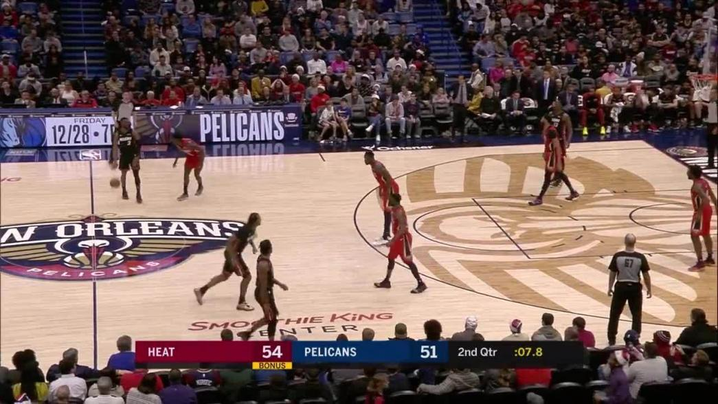 Dwyane Wade hits the shot with time ticking down in the second quarter   NBA.com