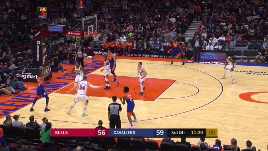 Cedi Osman hits the shot with time ticking down in the third quarter   NBA.com