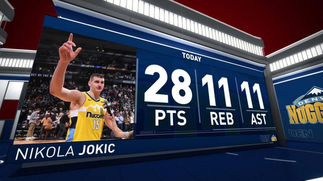 Nikola Jokic Records Triple-Double In Win Vs. Spurs  February 23rd 2018