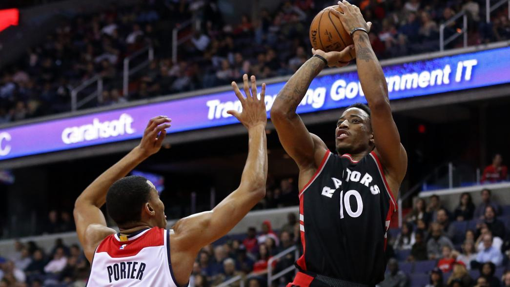 DeMar DeRozan, Toronto Raptors pour it on in rout of Washington Wizards