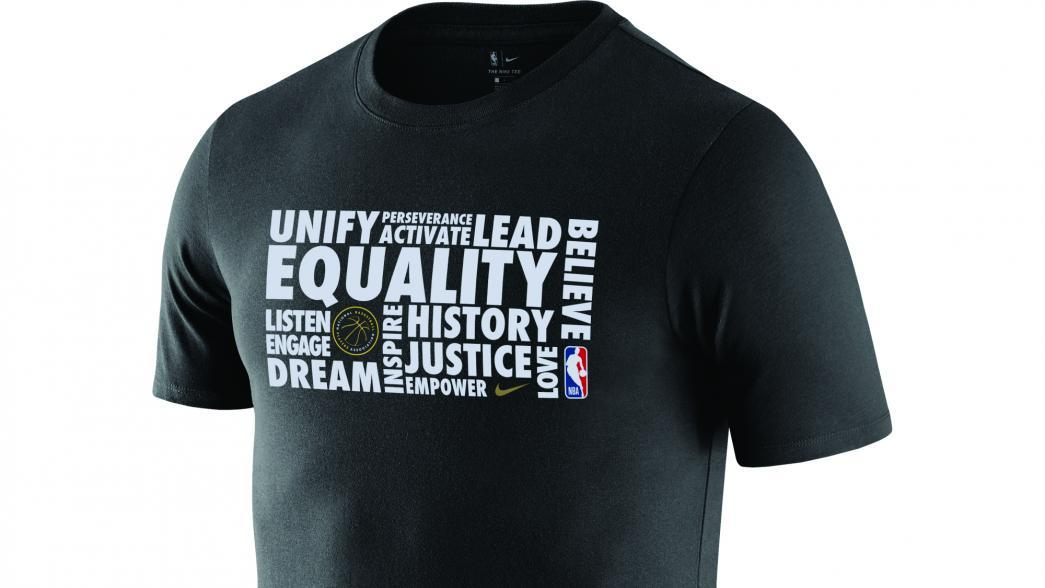 d829bd5e4f1 NBA and Nike Debut Black History Month Warmup Shirt with Inspiring Words  Chosen by Players Celebrating Equality and Diversity