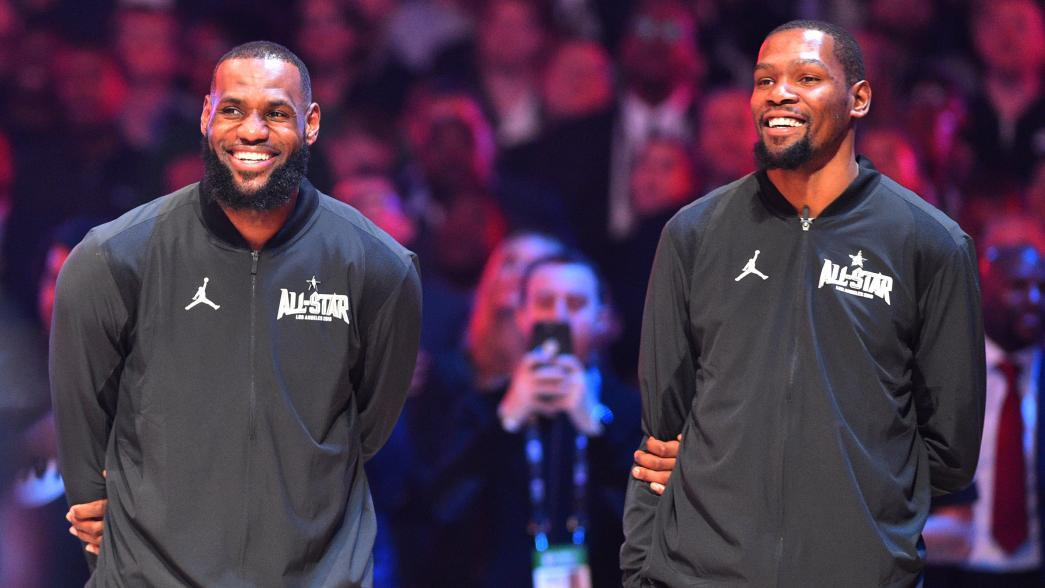 5b2a5508c3e Golden State Warriors forward Kevin Durant gave his stamp of approval for  LeBron James  move to the Los Angeles Lakers.