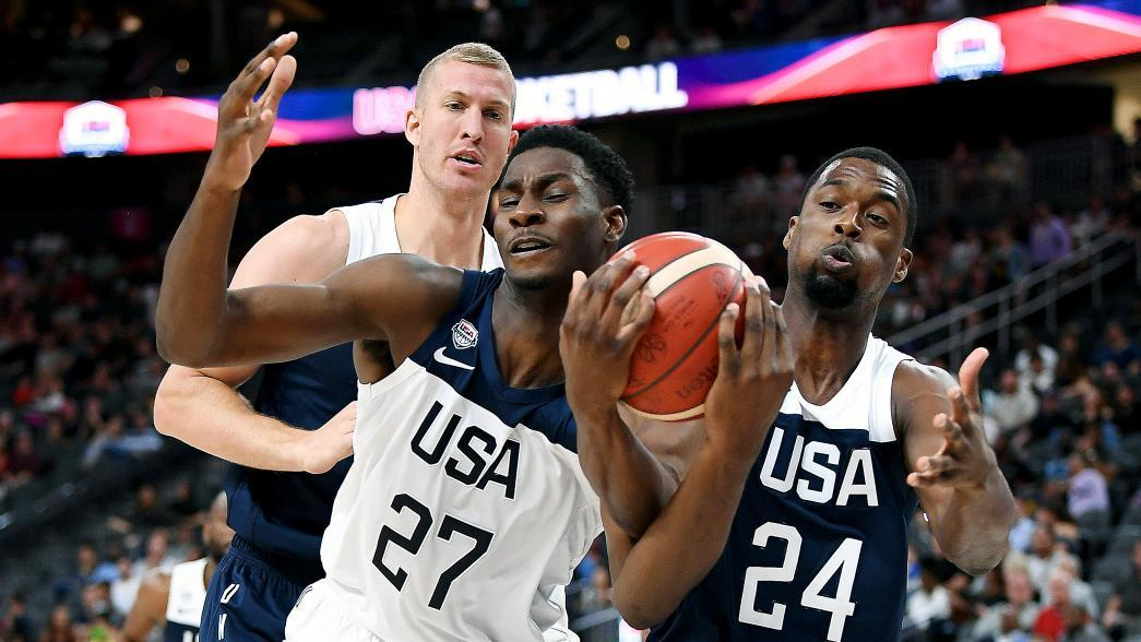 Team USA reshuffles roster after first scrimmage   NBA com