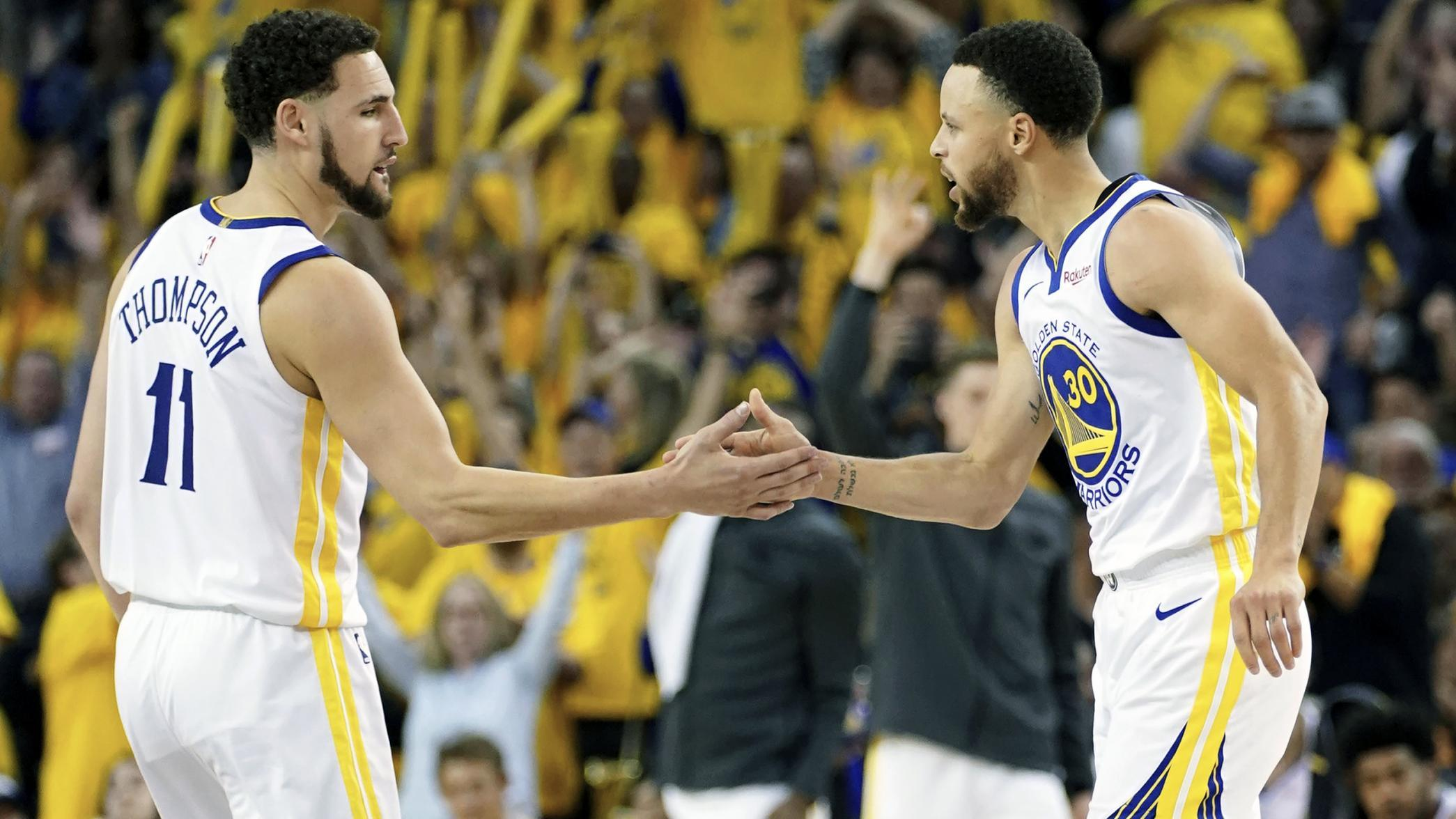 curry-thompson_1 - The Warriors are one game away from elimination, and their dynasty is one step c - Basketball | NBA-PBA