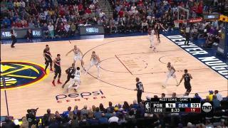 18cafb17e984 0041800231 - Zach Collins - Denver Nuggets - Portland Trail Blazers - Block  - 4Q. 0021800329 REGULAR SEASON ...