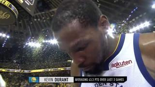 d3307cb977b 20190428 gametime rockets warriors durant walkoff int. Allie LaForce  catches up with Kevin ...