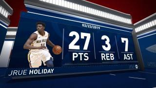 79349622c 0021800887 Jrue Holiday (27 points) Highlights vs. Los Angeles Lakers