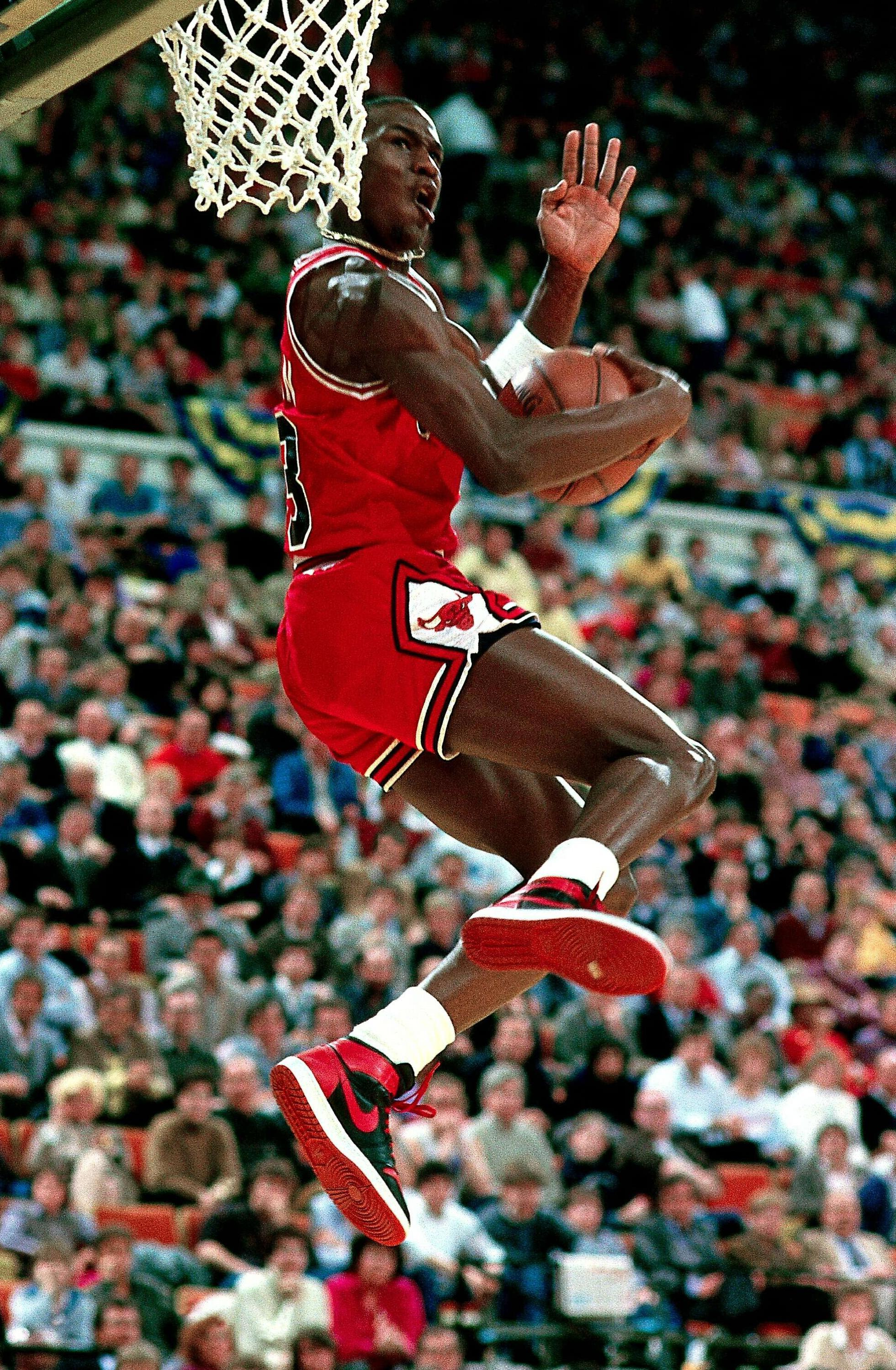 buy popular d23da 2b084 The Air Jordan I Michael Jordan wore in the dunk contest was banned by the  NBA.