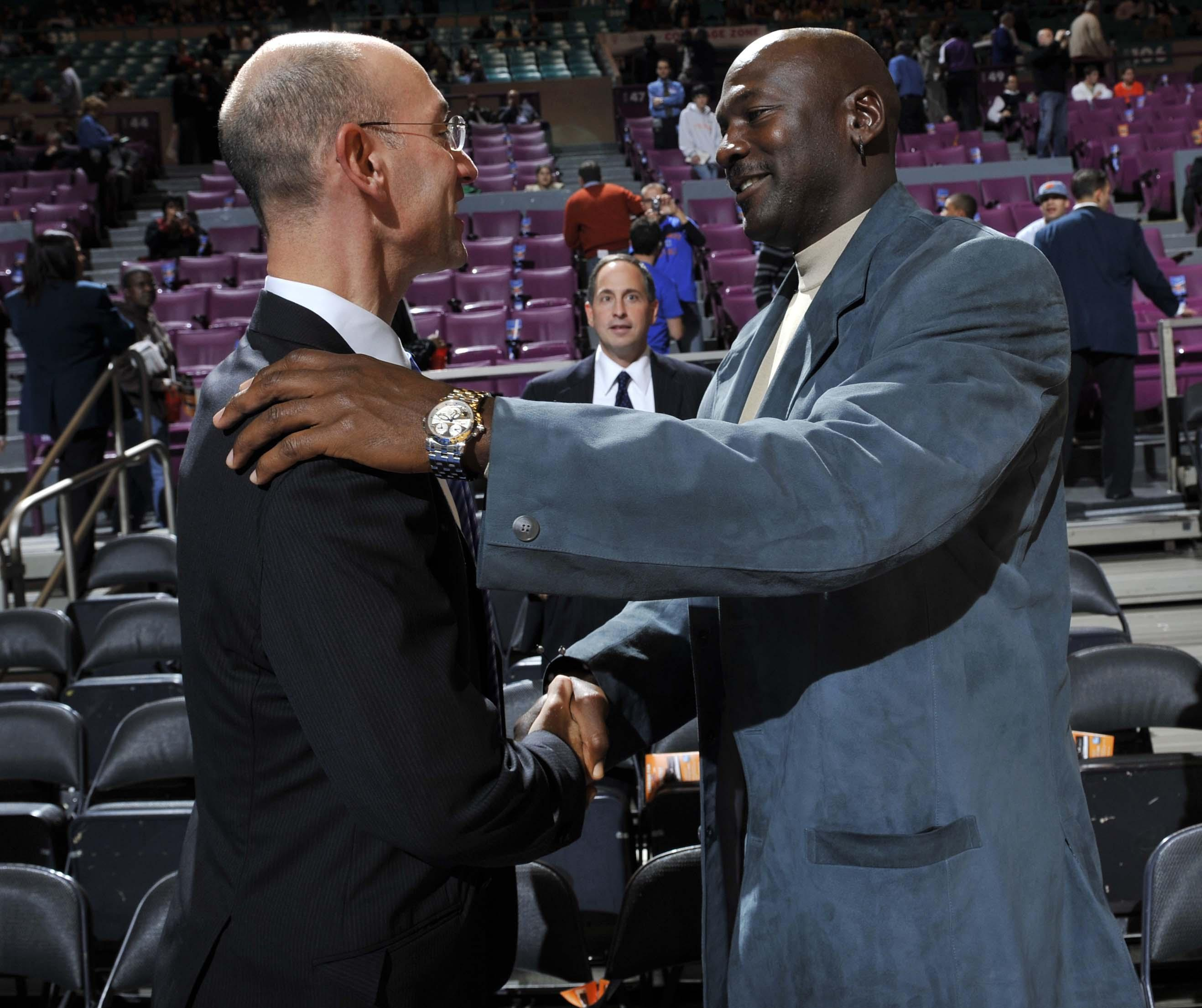 609b859e162 NBA commissioner Adam Silver says Jordan 'brings unique credibility to the  table' during talks between owners and players.