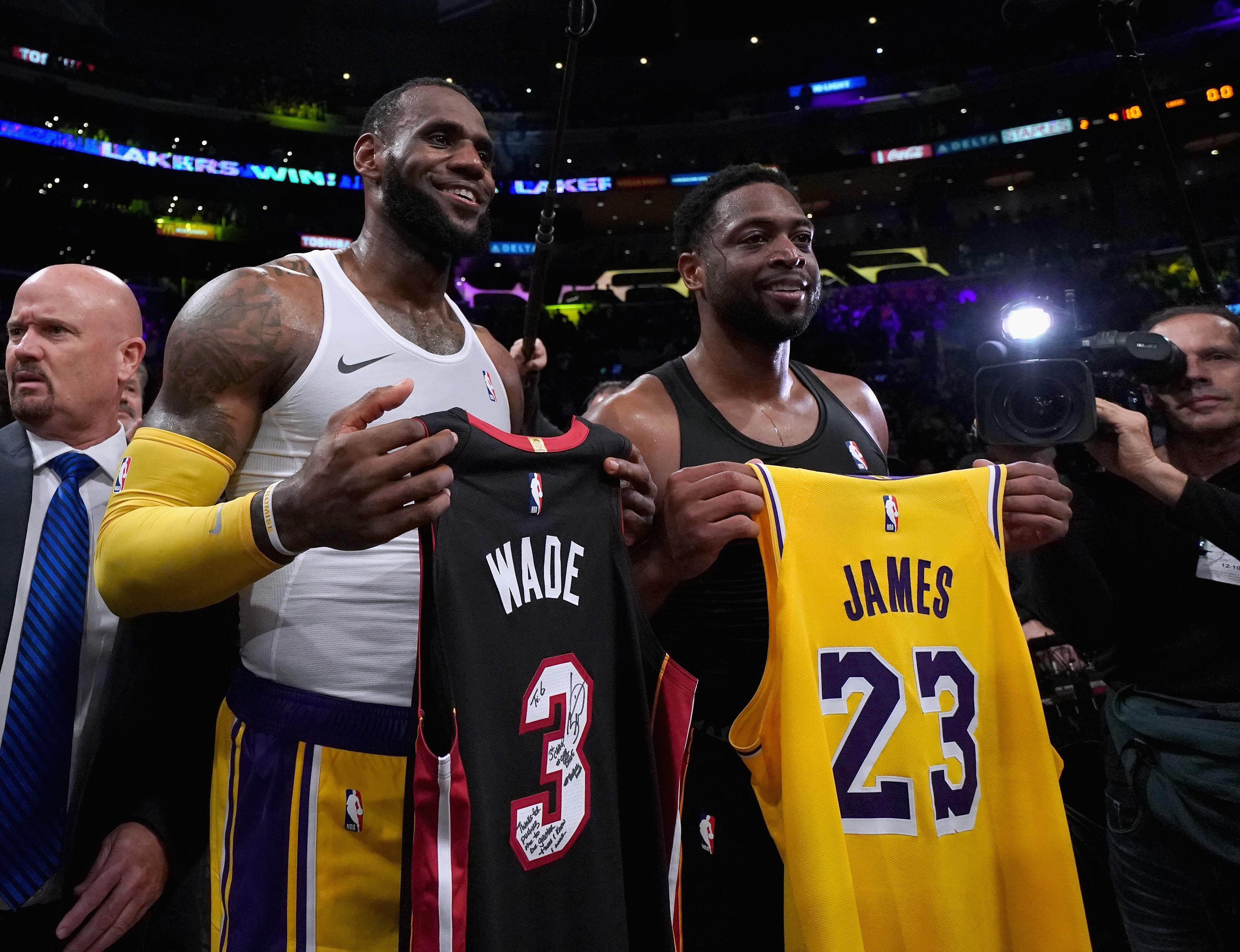 the latest dbe91 8ff21 Wade's jersey swaps in his farewell season | NBA.com